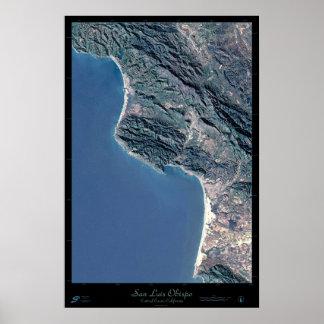 San Luis Obispo, California satellite poster