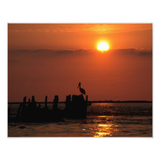 San Luis Pass Sunset Photo Print