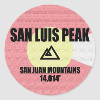 San Luis Peak Round Sticker