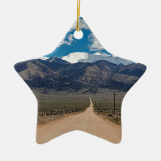 San Luis Valley Back Road Cruising Ceramic Ornament