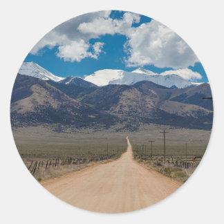San Luis Valley Back Road Cruising Classic Round Sticker
