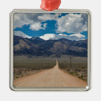 San Luis Valley Back Road Cruising Metal Ornament