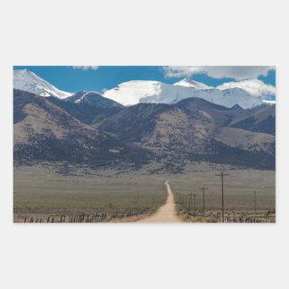 San Luis Valley Back Road Cruising Rectangular Sticker