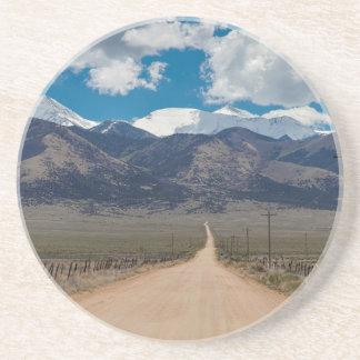San Luis Valley Back Road Cruising Sandstone Coaster