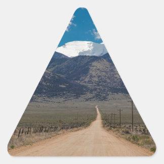 San Luis Valley Back Road Cruising Triangle Sticker