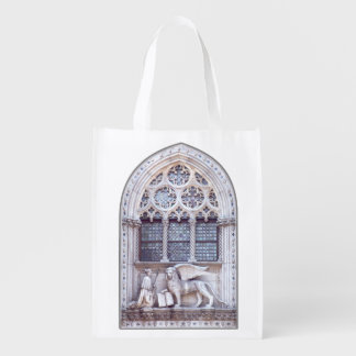 San Marco and Winged Lion Venice Italy Reusable Grocery Bags