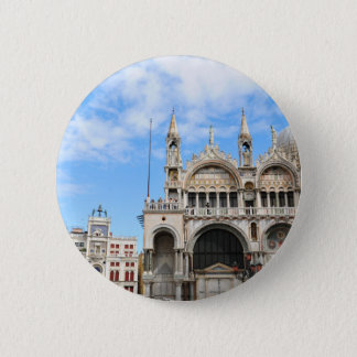 San Marco square in Venice, Italy 6 Cm Round Badge