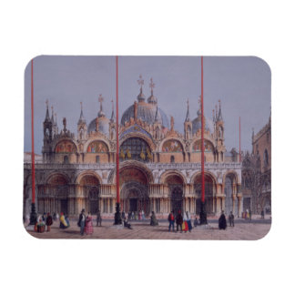 San Marco, Venice, engraved by Brizeghel (litho) Magnet