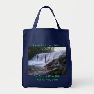 San Marcos River Falls Grocery Tote Grocery Tote Bag