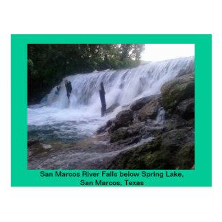 San Marcos River Falls Post Card