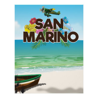 San Marino Beach travel poster