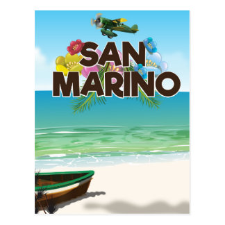 San Marino Beach travel poster Postcard