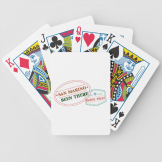 San Marino Been There Done That Bicycle Playing Cards