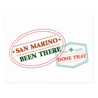 San Marino Been There Done That Postcard