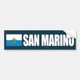 San Marino Flag Bumper Sticker