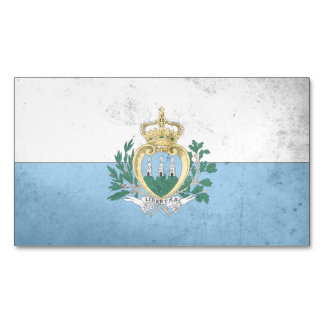 San Marino Flag Magnetic Business Cards