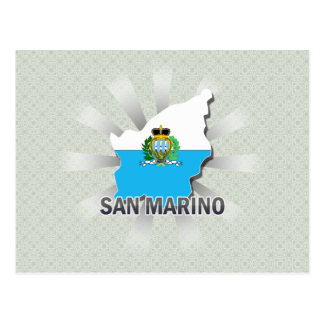 San Marino Flag Map 2.0 Postcard