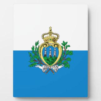 San Marino Flag Plaque