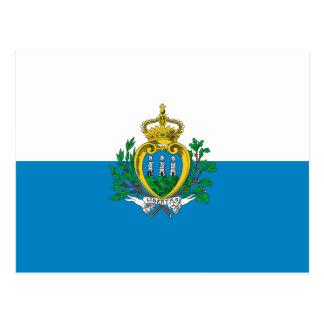 San Marino Flag Postcard