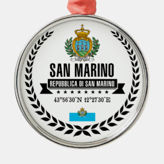 San Marino Metal Ornament