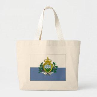 San Marino National Flag Jumbo Tote Bag