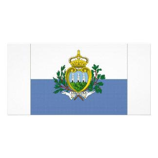 San Marino National Flag Photo Cards
