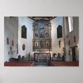 San Miguel Mission Altar, Santa Fe Poster