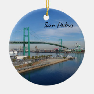 San Pedro, California Ceramic Ornament
