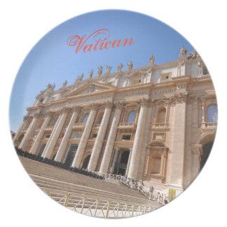 San Pietro basilica in Vatican, Rome, Italy Plate