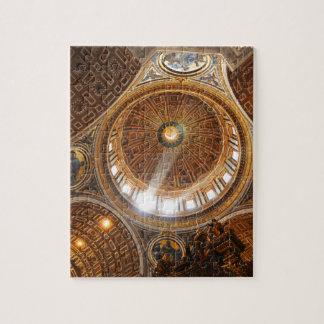 San Pietro basilica interior in Rome, Italy Jigsaw Puzzle