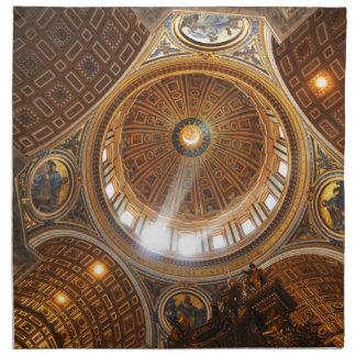 San Pietro basilica interior in Rome, Italy Napkin