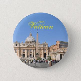 San Pietro square in Vatican, Rome, Italy 6 Cm Round Badge