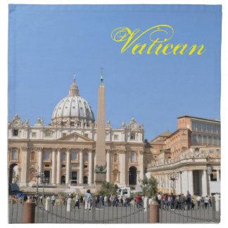 San Pietro square in Vatican, Rome, Italy Napkin