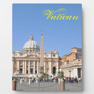 San Pietro square in Vatican, Rome, Italy Plaque
