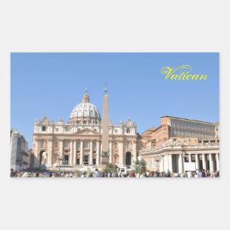 San Pietro square in Vatican, Rome, Italy Rectangular Sticker