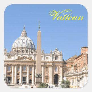 San Pietro square in Vatican, Rome, Italy Square Sticker