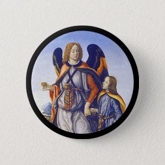 San Rafael Saint Raphael 6 Cm Round Badge
