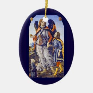 San Rafael Saint Raphael Ceramic Ornament