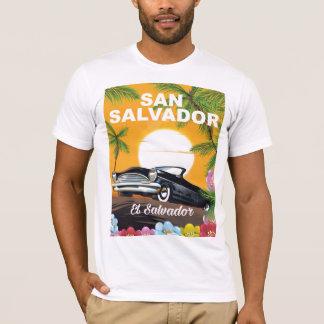 San Salvador, El Salvador retro travel poster. T-Shirt