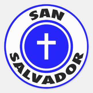 San Salvador Round Sticker