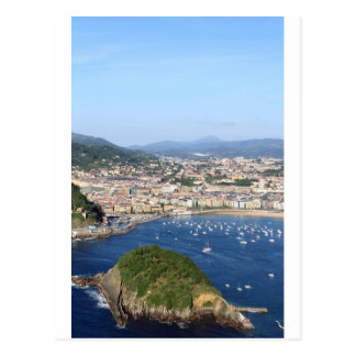 San Sebastian beautiful scenic coastline Postcard