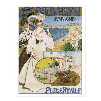 San Sebastian Espana Place Royale Postcard