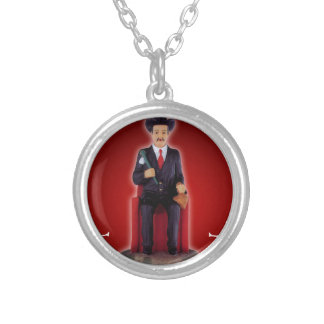SAN SIMON CUSTOMIZABLE PRODUCTS SILVER PLATED NECKLACE