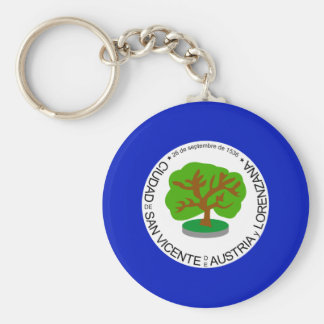 San Vicente Department, El Salvador Basic Round Button Key Ring