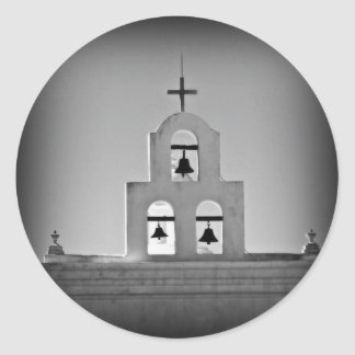 San Xavier church Classic Round Sticker