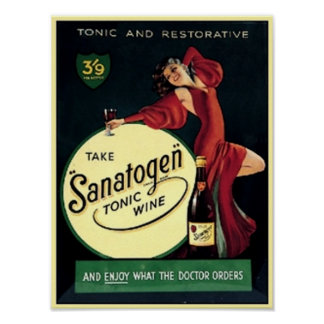Sanatogen Tonic Wine Poster
