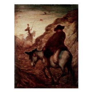 Sancho and Don Quixote, 19th century Postcard