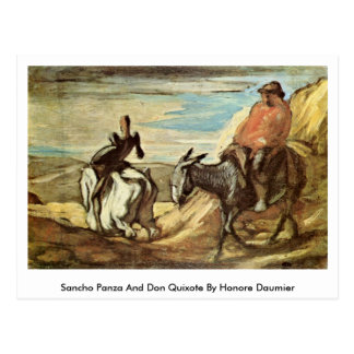 Sancho Panza And Don Quixote By Honore Daumier Postcard