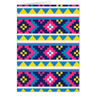 sand_and_beach AZTEC PATTERN BRIGHT COLORFUL SUMME Greeting Card