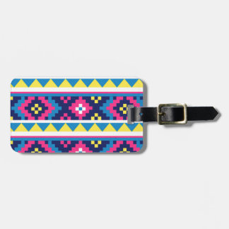 sand_and_beach AZTEC PATTERN BRIGHT COLORFUL SUMME Travel Bag Tag